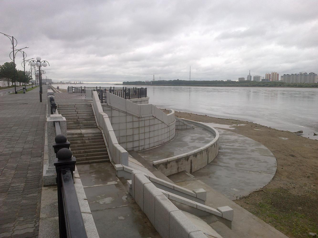 Набережная реки Амур, Благовещенск (Амурская область)