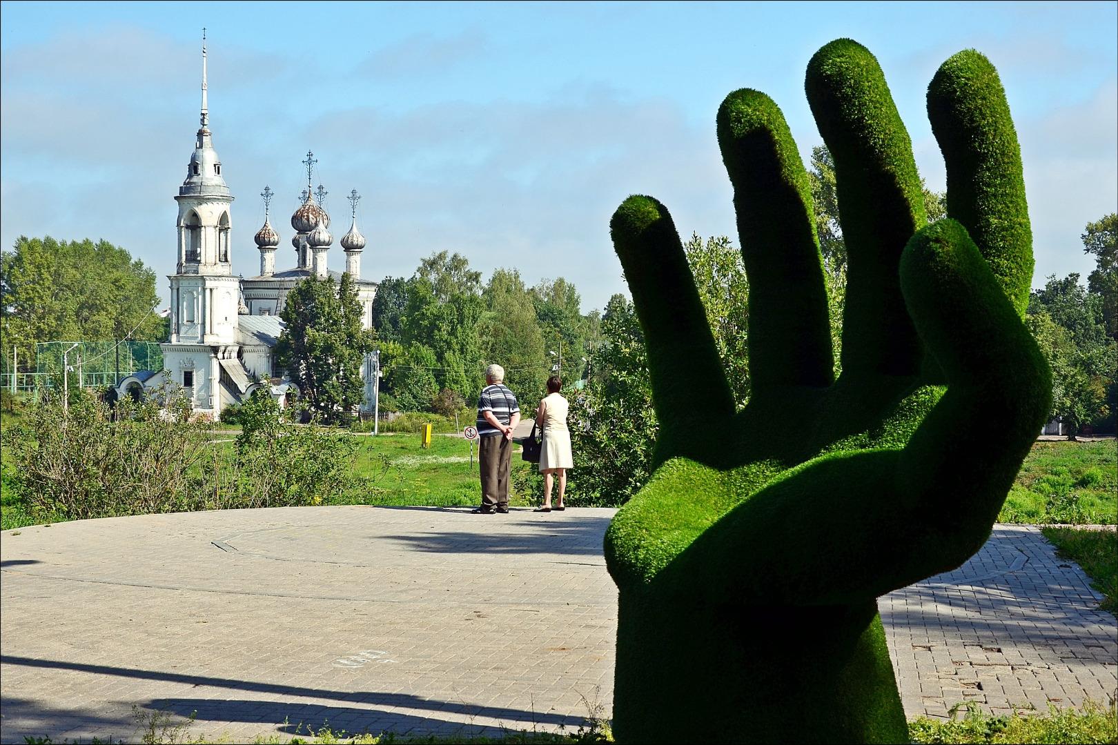 Арт-объект Кресло-рука, Вологда