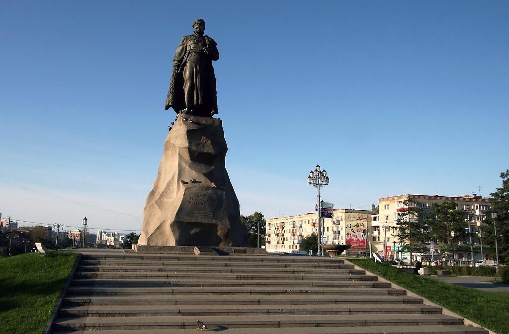 дамам памятник хабарову в хабаповске история желания