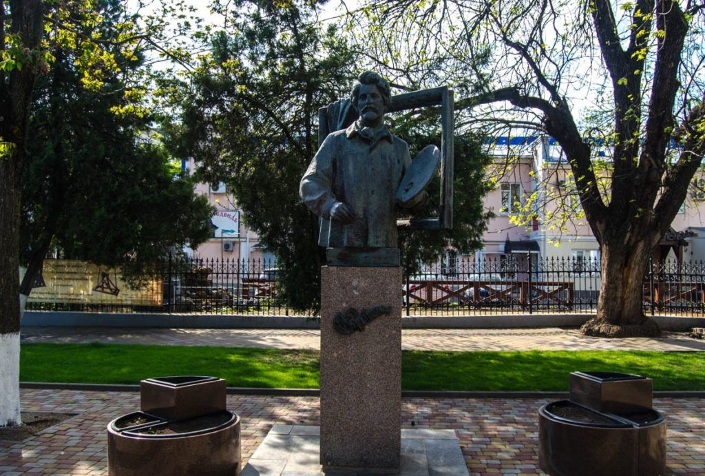 Памятник И.Е. Репину, Краснодар
